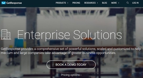 Getresponse Enterprise Solutions Pricing